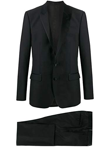 DOLCE E GABBANA Luxury Fashion Herren GK2WMTFU2Z8N0000 Schwarz Wolle Anzuge   Jahreszeit Permanent