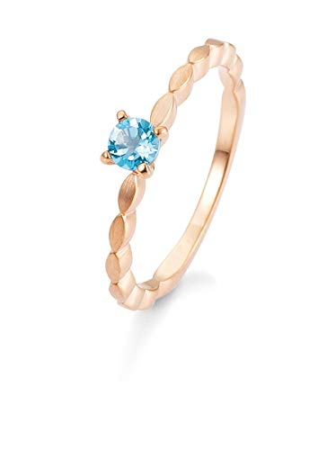 Breuning - Verlobungsring Roségold 585/- mit Blautopas