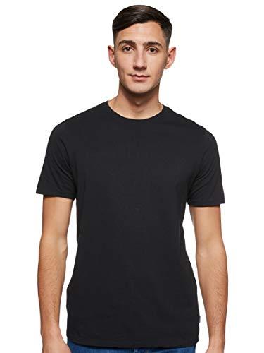 Jack & Jones Jjeorganic Basic tee SS O-Neck Noos Camiseta, Negro (Black Detail: Slim), Large para Hombre