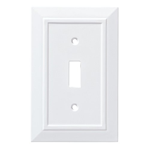Franklin Brass W35241-PW-C Classic Architecture Single Switch Wall Plate/Switch Plate/Cover, White