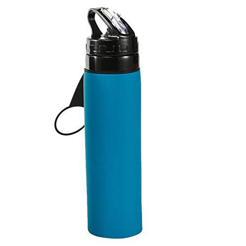 ASR Botella plegable para montañismo al aire libre, silicona Kettle 600 ml, (G)