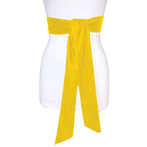 Way2like Cinturones De Faja De Terciopelo Vestido De Fiesta Dama De Honor Faja De Doble Cara Boda para Mujer ⭐