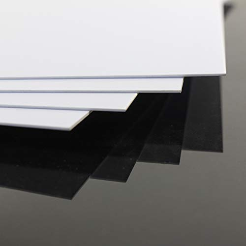 ABS0905 8pcs 0.5mm Thickness 200mm x 250mm White Polystyrene Sheets 9.84'' x 7.87'' x 0.02'' ABS Styrene Sheets for Model Train Layout New (0.5mm)