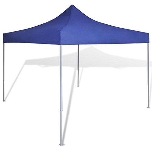 vidaXL Tienda Fiesta Plegable de Jardín Acero PVC Azul Carpa Pérgola de Patio