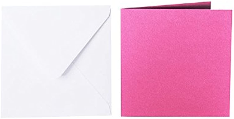 100 quadratische quadratische quadratische Briefumschläge 110 x 110 mm Weiß mit Dreieckslasche, 100g  100 Faltkarten 100 x 100 mm, 240g, Farbe  i09 IntensivRosa B015POTYCK   Kaufen Sie online    Angenehmes Gefühl    Ausgang  3cb0e4