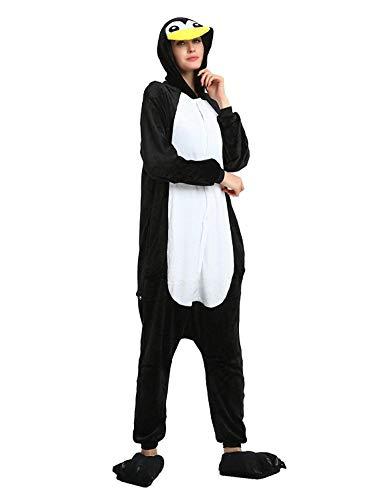 Pijama Animales Disfraz Cosplay Carnaval Halloween Costumes Unisex Mono Pijama Entero Unicornio Panda Pingüino Pinguino XL