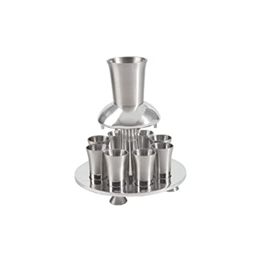Yair Emanuel Anodized Aluminum Kiddush Fountain with Nine Cups