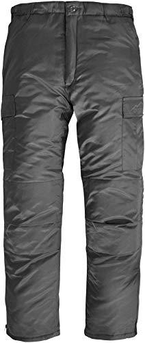 Winter Thermohose gefüttert Winter Pants verstärkt und mit Dehnfalten für Herbst und Winter Farbe Grau Größe 3XL