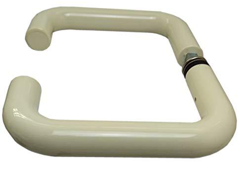 HEWI Zimmertürdrücker 111.23 E Türstärke Türgriiffe 28-48 mm Drückerstift 8 mm OHNE Schlüsselrosette Drückerrosette Mehr Fabrig Sehr Günstig (Creme(weiß))