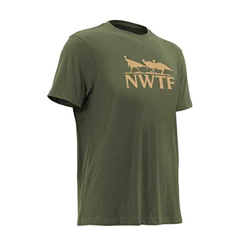 Nomad Outdoor Nwtf Turkey Tracks Ls Tee, Military Olive Drab, XXX-Large