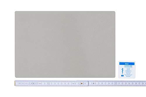 Flickly Anhänger Planen Reparatur Pflaster | in vielen Farben erhältlich | 30cm x 20cm | SELBSTKLEBEND (Hellgrau RAL 7038)