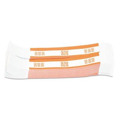 Currency Straps, Orange, 50 in Dollar Bills 1000 Bands/Pack (3 Pack)