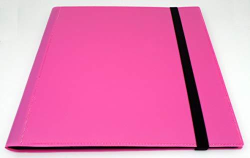 docsmagic.de Pro-Player 12-Pocket Playset Album Pink - 480 Card Binder - MTG - PKM - YGO - Álbum para Tarjetas Rosa