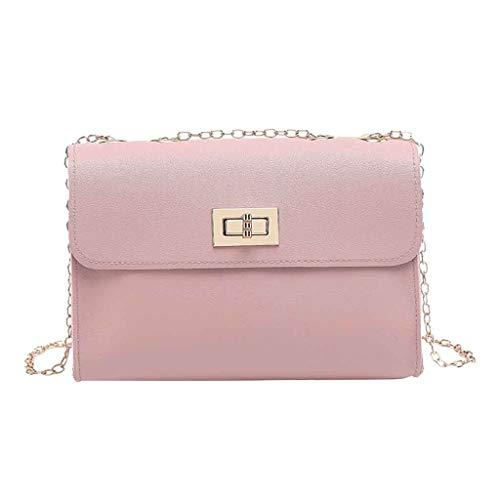 holitie Damen Handtasche Shopper Handtasche Mode Dame Schultern Kleiner Rucksack Brief Geldbörse Handy Messenger Bag für Hochzeit Party Disko … (Rosa)