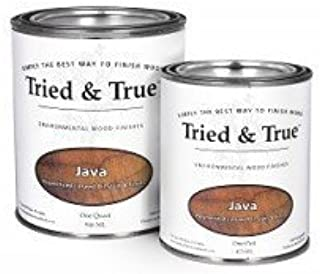 Tried and True Wood Stain- 100% solvent free, zero VOC, and safe for food and skin contact (Pint, Java)