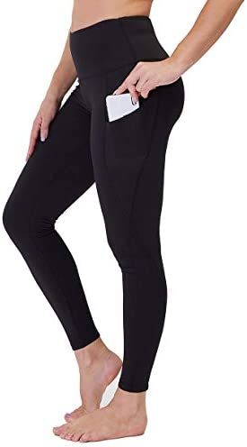 High Waist Yoga Pants with Pockets for Women Tummy Control Workout Running 4 Way Stretch Yoga product image
