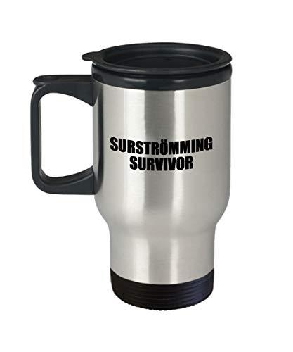 Surstromming - Taza de viaje, regalo surstromming, regalo sueco, Survivor