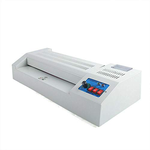 """Hot & Cold Roll Laminator Machine,13"""" Laminator Machine for A3/A4 Document Paper Photo Laminator Film No Bubbles for Home Office School Commercial Business & Industries Use"""