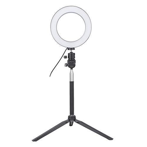 LED Ring Light, USB Selfie Ring Light LED Invullicht met Desktopstatief + Selfie Stick, LED Video Ring Light Lamp Kit voor fotografie, schieten