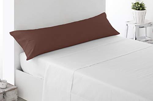 Miracle Home Housse de coussin douce et confortable en coton 50 % polyester Chocolat 90 cm