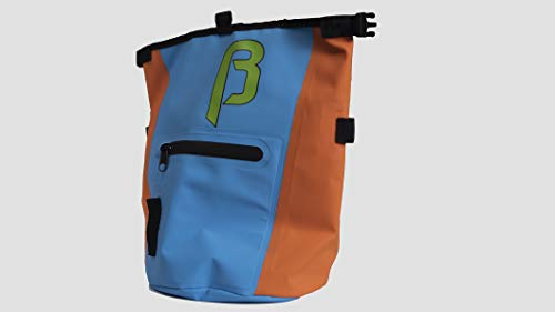 BetaLabs Buck-It Rock Climbing Chalk Bag with Phone Pocket and 2 Brush Holders for Bouldering or...