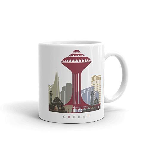 Khobar Arabia Saudita Taza de café, idea de regalos para el hogar, taza de té, regalo de Acción de Gracias, regalo de Navidad, 15 onzas