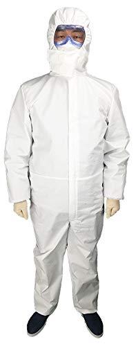 Protective Einweg-Overall Papier Boiler Suit Overall Schutzanzug Elasticated Hood Für Labor, DIY Arbeit, Werkstatt, Arbeiten Im Freien,XL