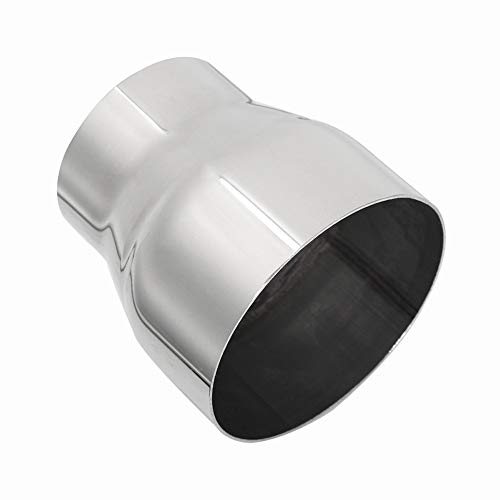 """WPFC Car Schalldämpfer Auspuff Endrohr, 3"""" ID 4"""" Universal-Auto-Chrom-Edelstahl-Auspuff-Rohr-Adapter Reducer Stecker"""