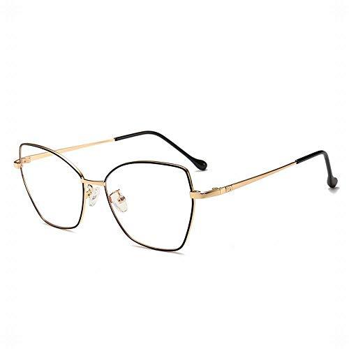 TEYUN Mariposa Marco de los vidrios Anti Blue Ray Glasses (Color : Gold/Black)