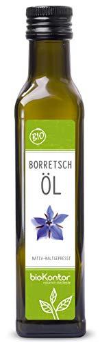 Borretschöl BIO kaltgepresst 250ml I nativ - 100% rein I Rohkostqualiät von bioKontor