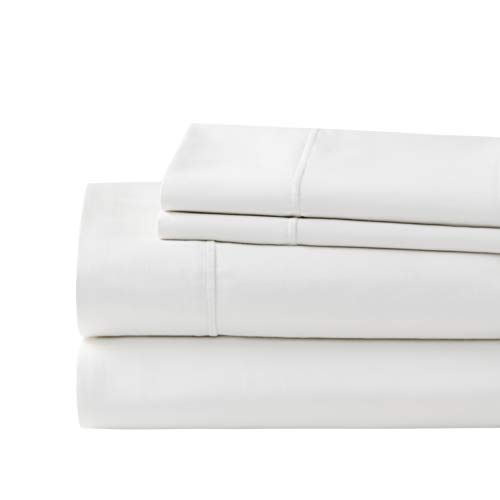 Hyde Lane 100% Cotton 1000 Thread Count 4 Piece Sateen Fitted Sheet Set Queen White