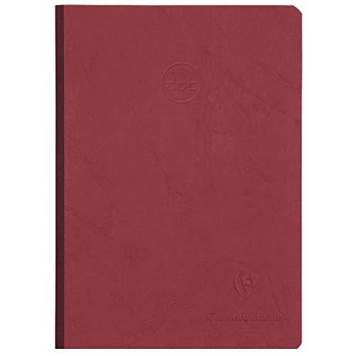 Clairefontaine 795432C – Ein Notizbuch broschiert, Leinenrücken, 192 Seiten, 14,8 x 21 cm, 90 g DOT (Aufdruck kleine Punkte 5 mm), Umschlag rot