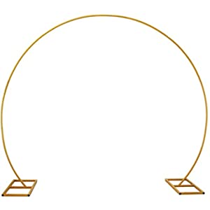 LANGXUN Large Size Gold Metal Circle Balloon Arch Kit Decoration, for Birthday Decoration, Wedding Decoration, Graduation Decorations and Event Party Supplies, Baby Shower Photo Background Decoration