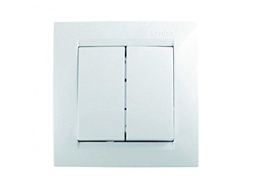 clasificación y comparación Simon F1590397030 Doble Conmutador Serie 15 Blanco para casa