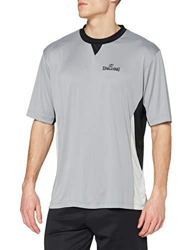 Spalding Herren Schiedsrichtershirt, grau/schwarz/Silbergrau, XL