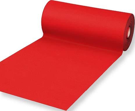 Passatoia Rossa Natalizia Tappeto Rosso Flessibile e Resistente in Feltro Larghezza 100 cm Lunghezza 100 cm