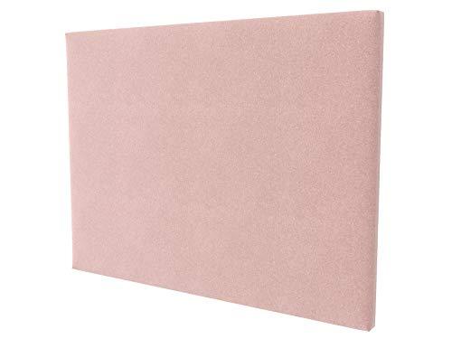 LA WEB DEL COLCHON - Cabecero tapizado Paros para Cama de 90 (100 x 120 cms) Rosa Palo Textil Suave | Cama Juvenil | Cama Matrimonio | Cabezal Cama |