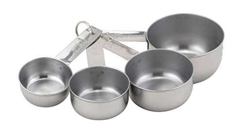Mrs Anderson's Baking Measuring Cups for Liquid and Dry Ingredients 4-Piece Set Stainless Steel