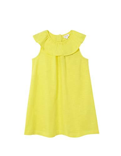 Gocco Vestido con Volante en Cuello, Amarillo Claro, 7-8 años para Niñas