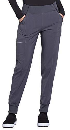CHEROKEE Infinity Women's Elastic Waist Jogger Scrub Pants-CK110A (Pewter - Small Petite)
