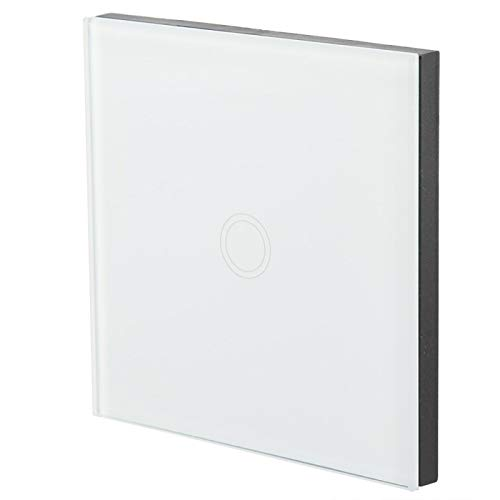 Interruptor táctil inteligente de vidrio templado con control remoto inalámbrico MCU Clip Interruptor táctil inteligente de modo ajustable a prueba de golpes e impermeable,(white)
