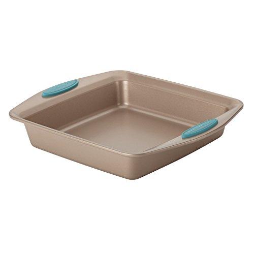 Rachael Ray Cucina Nonstick Baking Pan / Nonstick Cake Pan, Square - 9 Inch, Brown