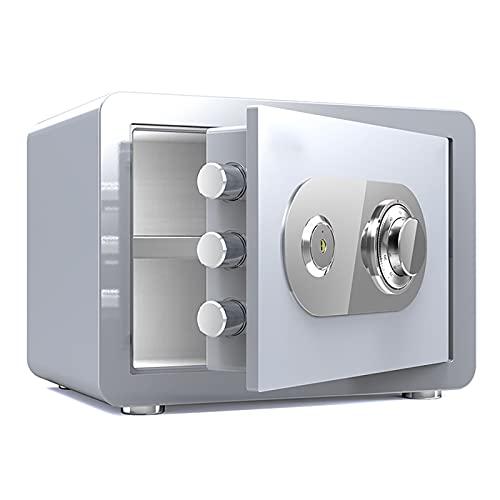 VIY Caja Fuerte Impermeable a Prueba de Fuego con combinación de dial, Cajas Fuertes de Fuego,Blanco
