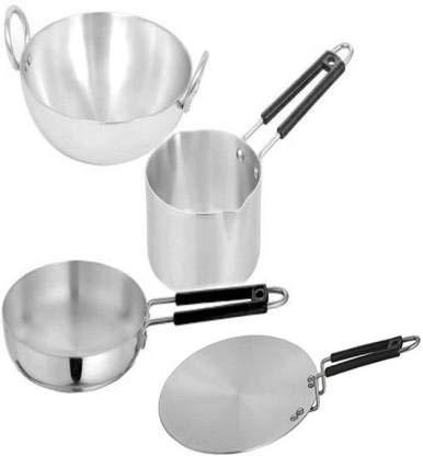 FASNO NAVBHARTI Aluminium Induction Base Cookware Sets (Silver)...