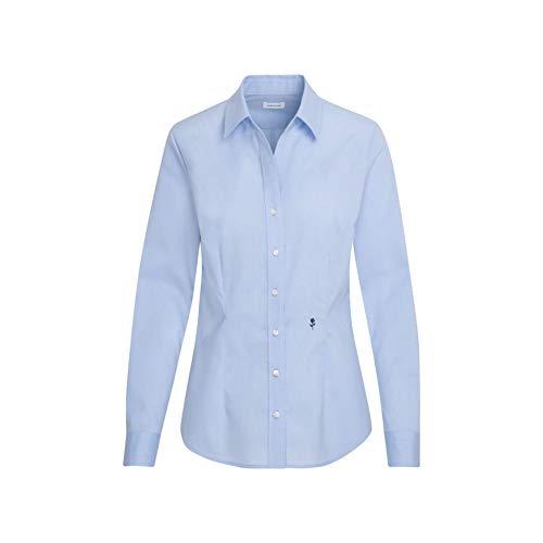 Seidensticker Damen Bügelfreie, taillierte Hemdbluse für eine Feminine Silhouette und optimalen Langarm – 100% Baumwolle Bluse, Hellblau, 46