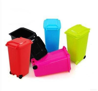 Generic Schreibtisch-Organizer für Mülltonnen, 5 Farben, Rot, 1 Stück
