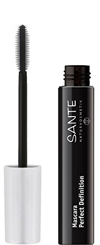 SANTE Naturkosmetik Mascara Perfect Definition No. 01 black, Verleiht starkes Volumen & definierte Wimpern, Mit Bambusextrakt, 8ml