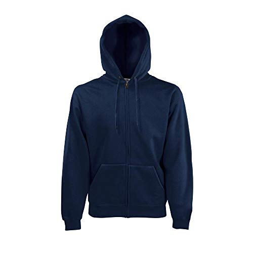 Fruit of the Loom - Hooded Sweat Jacket - Modell 2013 / Deep Navy, L L,Deep Navy
