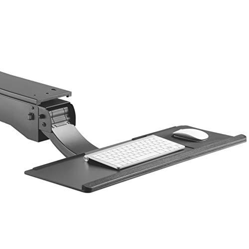 Maclean MC-795 Ausziehbare Tastaturschublade Tastatur Maus Schreibtischhalterung Tastaturhalterung Tastaturhalter