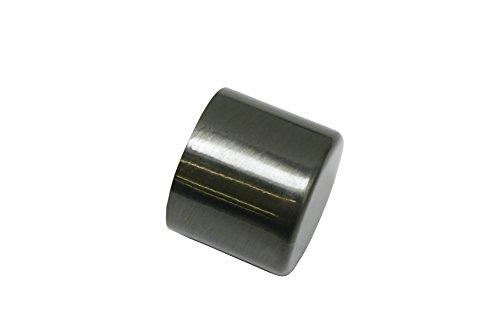 GARDINIA Endkappen für Gardinenstangen, 2 Stück, Serie Chicago, Durchmesser 20 mm, Metall, Titan